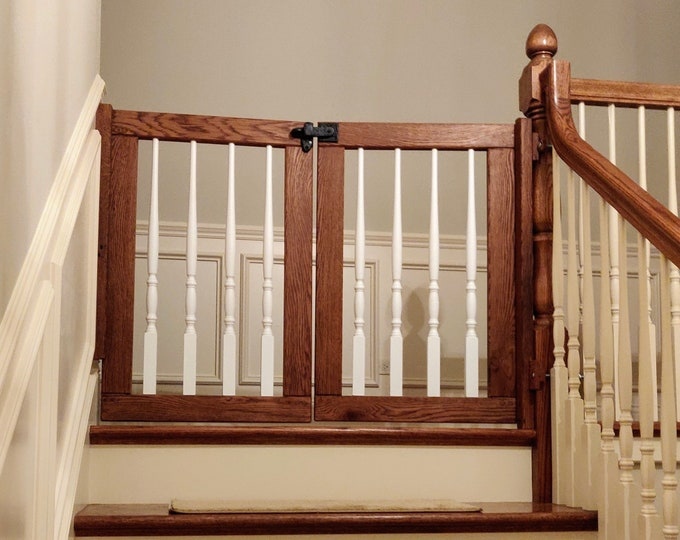 White Spindle Double Gate