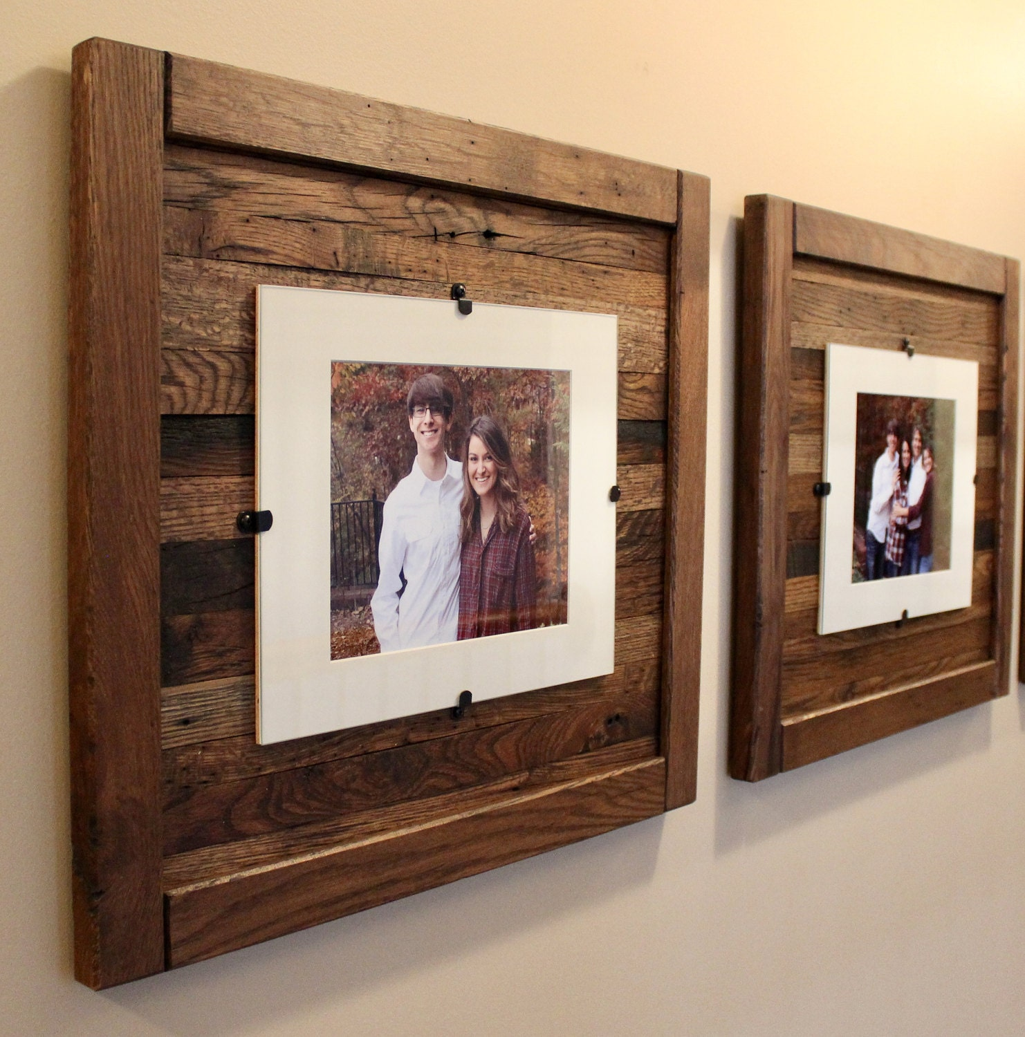 Reclaimed Wood Frames, Rustic Wood Frames, Set of 2, 5 x 7 Picture ...