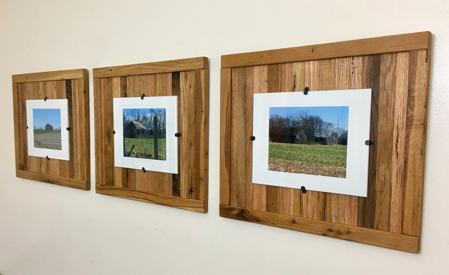 Rustic Wood Frames, Reclaimed Wood Frame, Set of 3, 8 x 10 Picture ...