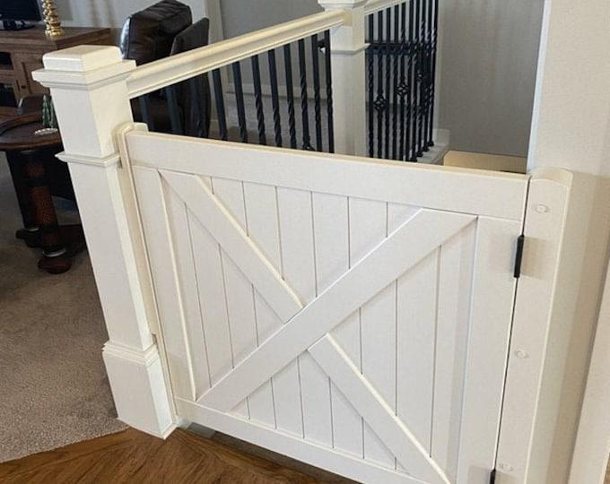 Painted White Barn Door Gate