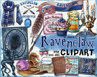 Wizard clipart, Harry Potter clipart, Harry potter party, Hogwarts house, printable journal, planner stickers, Luna Lovegood, scrapbook