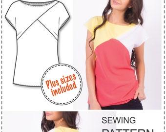 Easy blouse pattern | Etsy