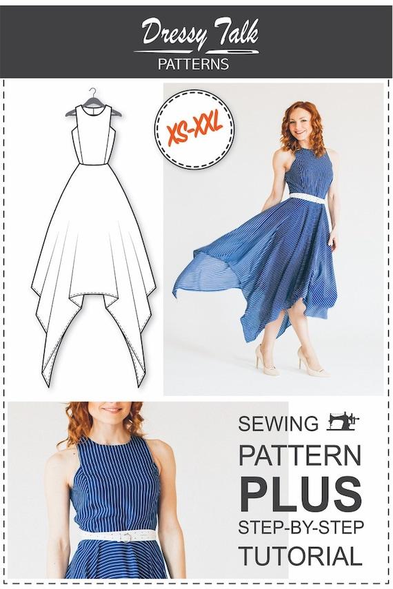 Maxi Dress Pattern PDF Sewing Patterns | Etsy