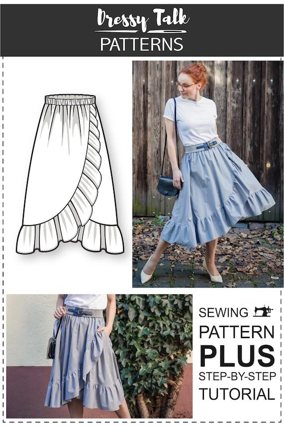 pdf Sewing Patterns Pattern Sewing Wrap Skirt Sewing Pattern Sewing Patterns Skirt Sewing Pattern PDF Sewing Pattern Sewing Pattern