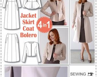Sewing Patterns - Coat Patterns - Jacket Patterns - Bolero Pattern - Skirt Patterns - Blazer Pattern - Sewing Tutorials - Sewing E-book