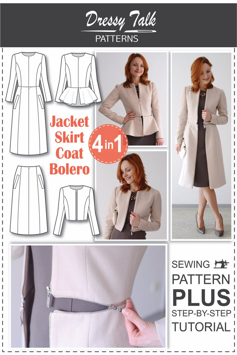 19c5c5e3e5c Sewing Patterns Coat Patterns Jacket Patterns Bolero