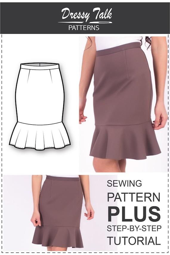 Skirt Pattern Sewing Tutorials Skirt Sewing Patterns | Etsy