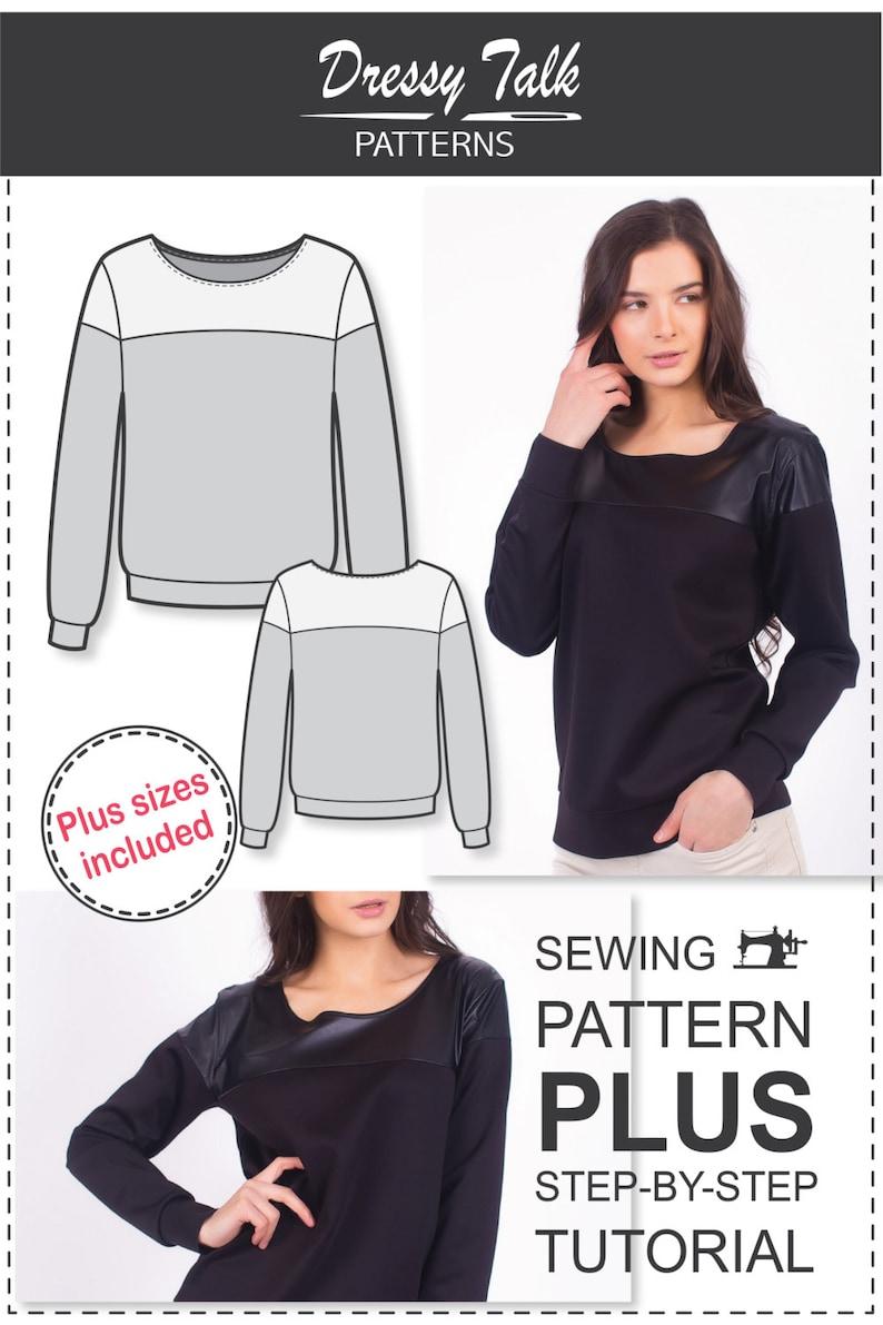 Sweatshirt Sewing Pattern - Sewing Tutorials - Sewing Patterns - Womens  Sewing Patterns - Sweatshirt Pattern - Plus Size Patterns - Sew Easy