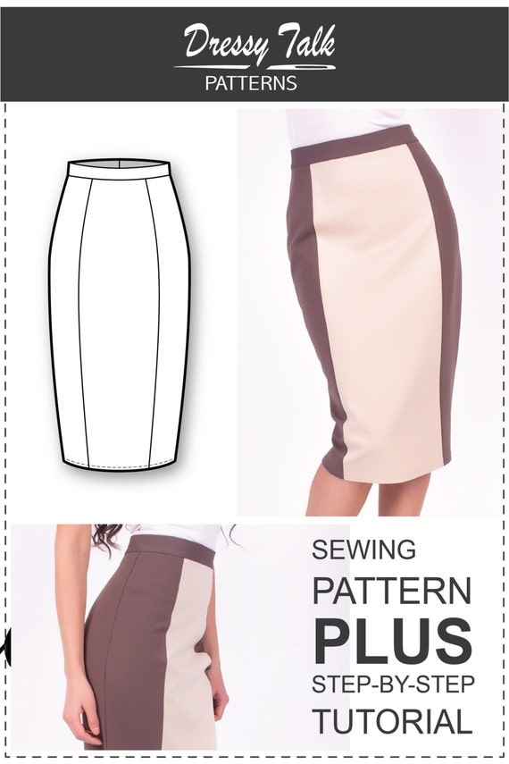 Skirt Patterns Sewing Tutorials Pencil Skirt Pattern | Etsy