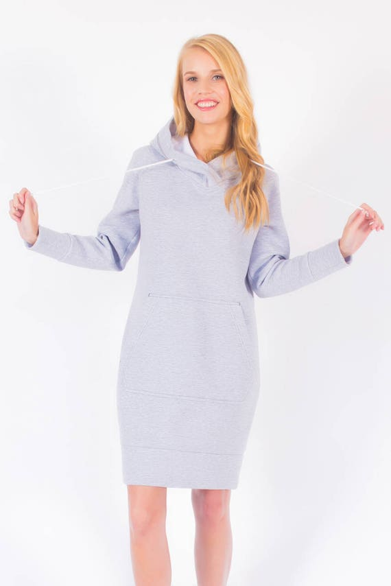 Sweatshirt Dress Sewing Pattern Knit Dress Pattern Hoodie | Etsy