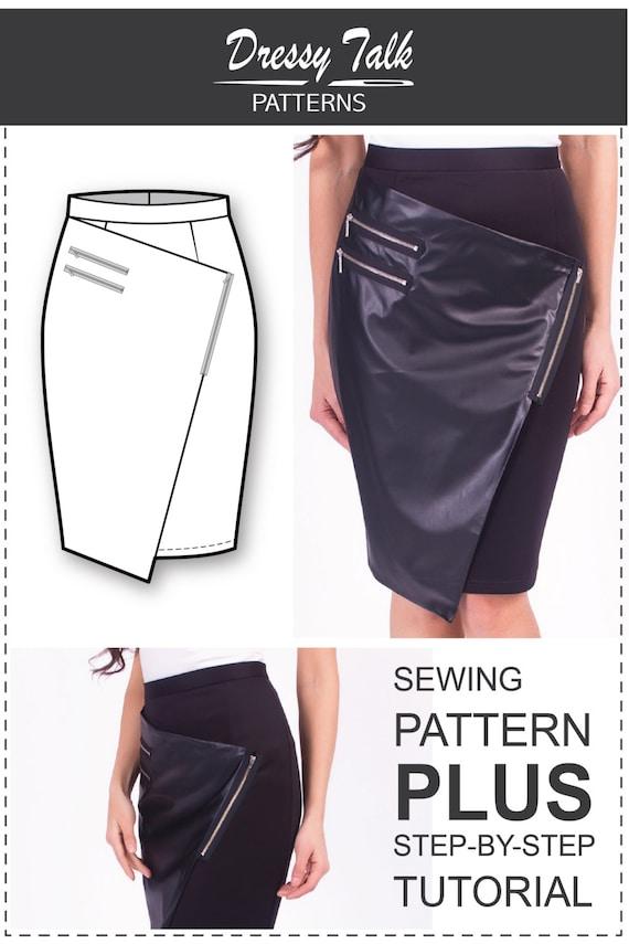 Wrap Skirt Pattern Sewing Tutorials Skirt Patterns Wrap Etsy