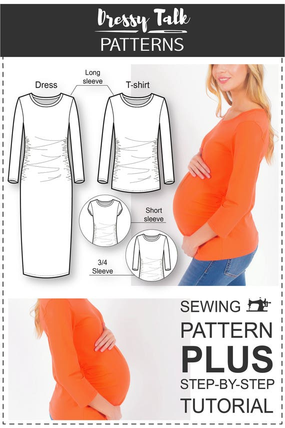Maternity Top Patterns - Maternity Sewing Patterns - Pregnancy Dress ...