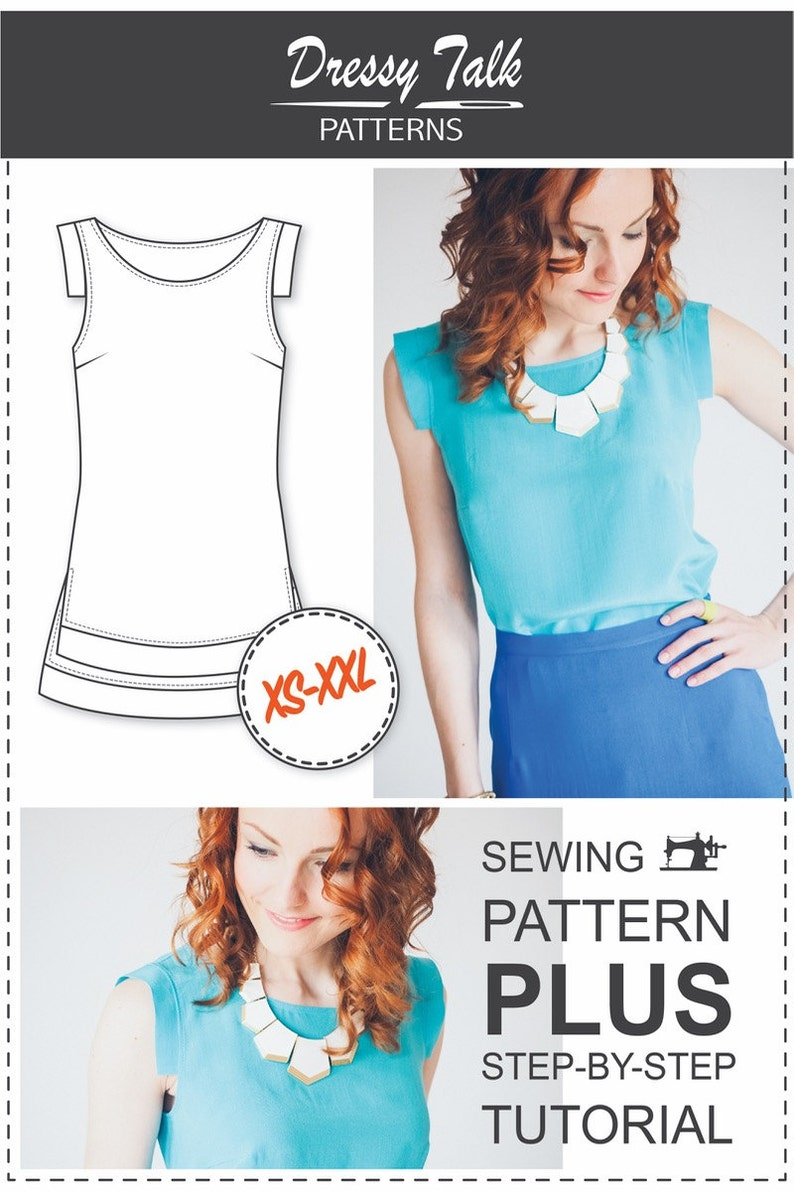 Blouse Patterns - Sewing Tutorials - Cap Sleeve Pattern - Fashion Patterns  - PDF Sewing Patterns - Sewing Patterns - Sewing Tutorial