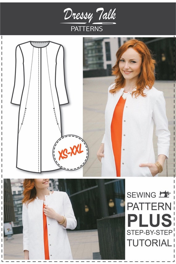 Womens Sewing Patterns Sewing Tutorials Coat Patterns | Etsy