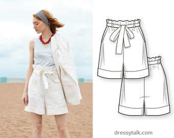 Shorts Sewing Pattern - Womens Shorts Pattern PDF - Clothing Patterns - PDF Patterns - Shorts Pattern - Indie Sewing Patterns - Easy Shorts