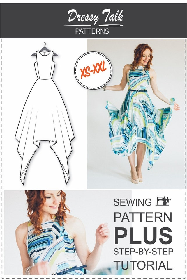 Dress Pattern Dress Sewing Patterns Sewing Tutorials | Etsy