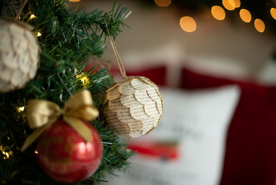 Win a Christmas Book Page Ornament! // inthebookcase.blogspot.com