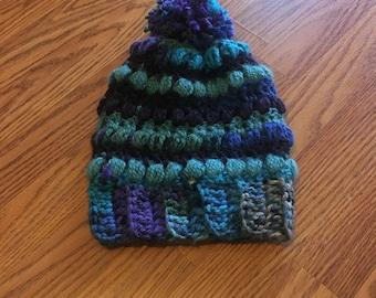 Blue multicolored hat