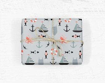 Nautical Wrapping Paper