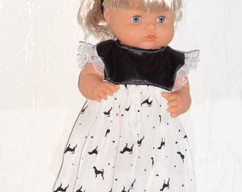 Nenuco 40 cm, dress, turban and socks doll clothes.