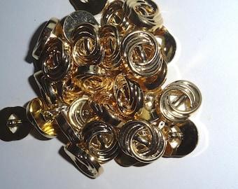 Golden color sets of 50 buttons buttons