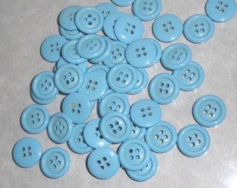 Sky blue color sets of 50 buttons buttons
