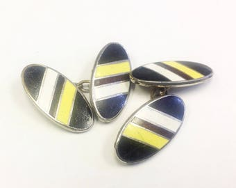 Vintage, Art Deco, enamel, Lambourne's cufflinks.