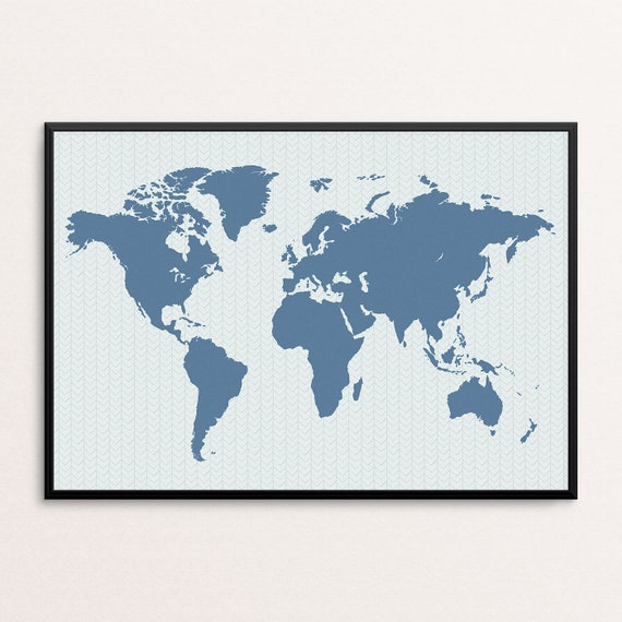 world map print watercolour  Print a4 picture unframed wall art bright