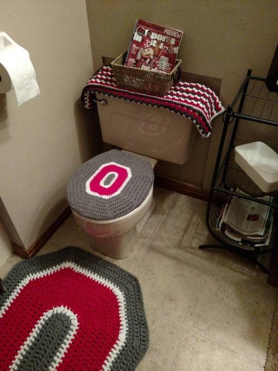 Charmant Ohio State Buckeyes Crochet Toilet Seat Cover Handmade Block | Etsy