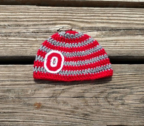 d1afe9078a5 Ohio State Buckeyes Baby Beanie Ready to Ship Scarlet and