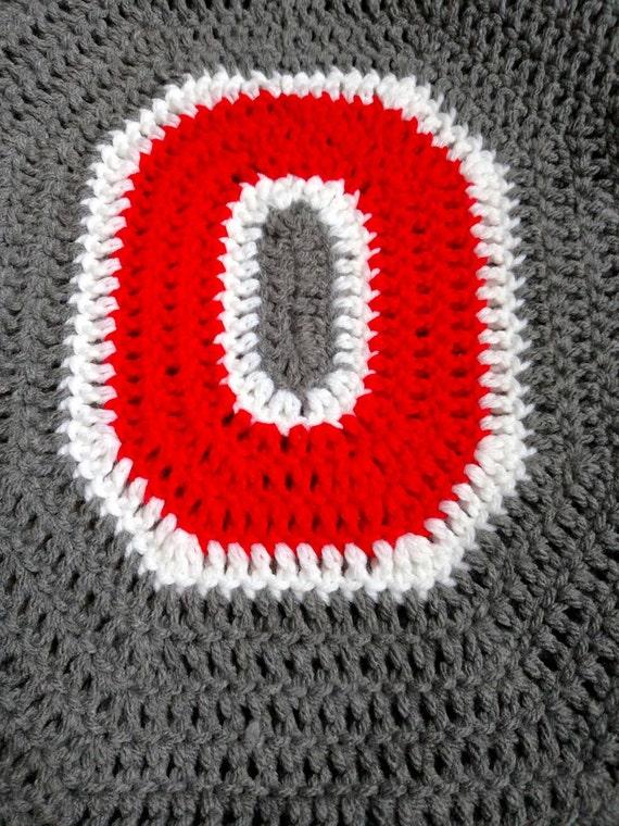 Ohio State Buckeyes Crochet Toilet Seat Cover   Handmade Block O Bathroom  Decor   Ohio State Home Decor