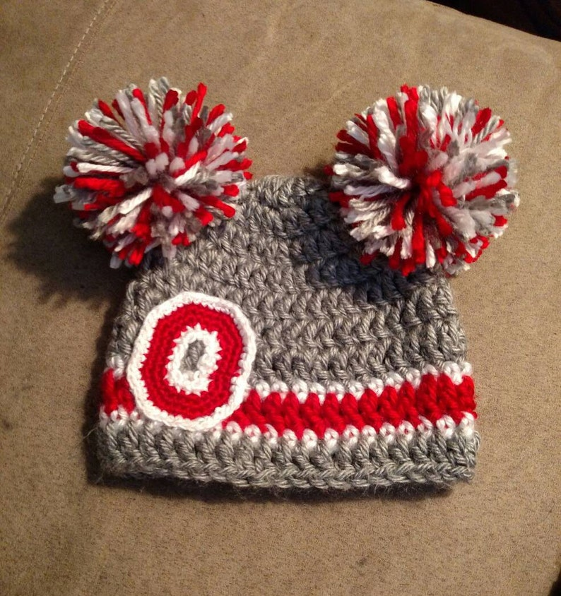 659eddaf036 Ohio State Buckeyes Baby Beanie Ready to Ship Crochet OSU