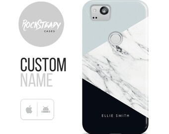 Personalized Marble Google Pixel 2 Case, Personalised initials Pixel XL, Pixel Phone Case, custom name Huawei P10 Case, P10 Plus Cover, P9