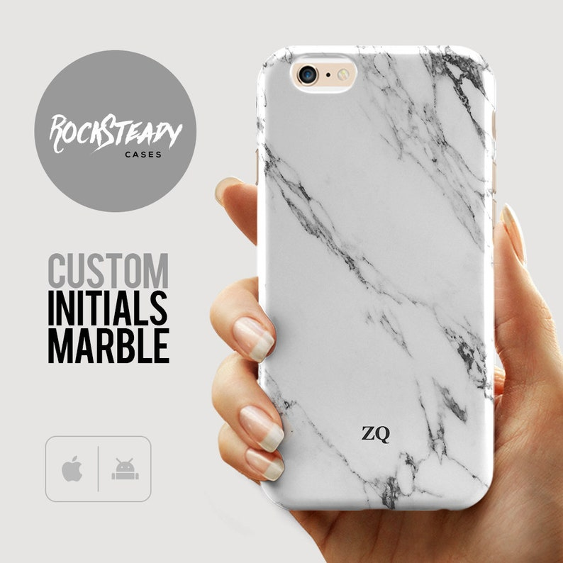finest selection 7e298 f31ce Personalised Phone Case, iPhone X Marble initials gift, 8, Xs, 6 Plus,  Samsung S9, s7, S8, 6s case, Custom Personalized gift Galaxy Note 8