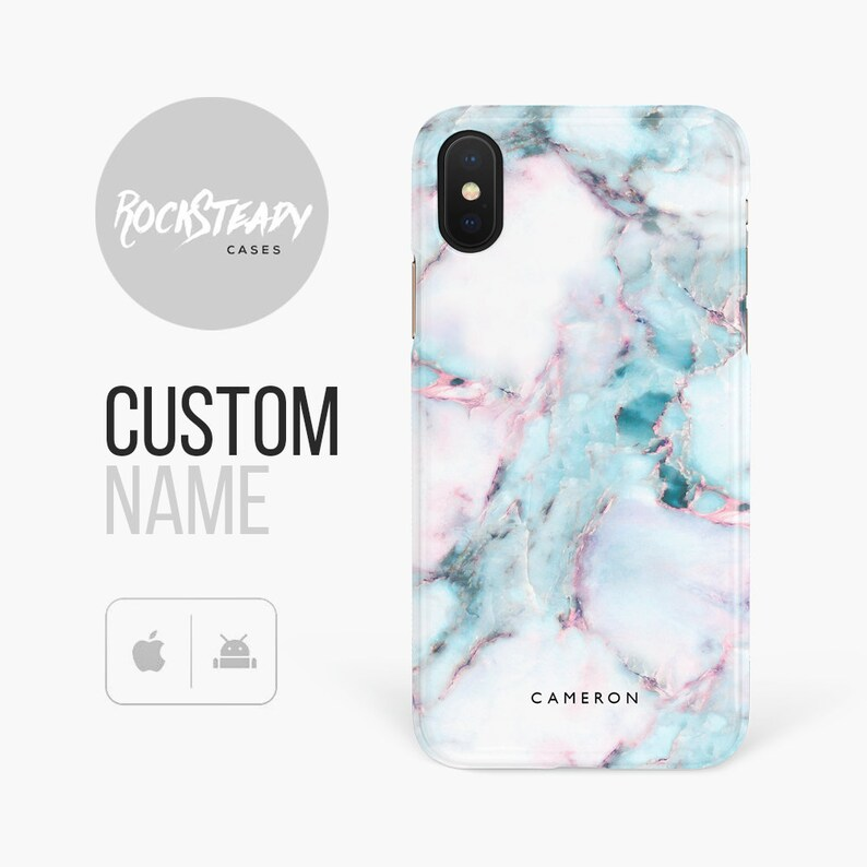 0fe0ae2c39 Personalised Marble Phone case iPhone 8 7 X Xs Max XR 6s | Etsy