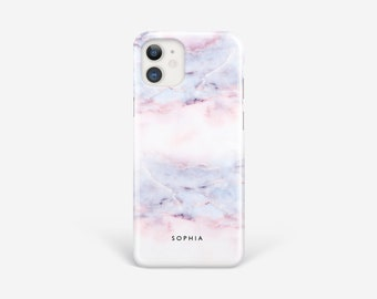 Personalised iPhone 12 Case Pink Marble Cover for 11 Pro Max Xs Xr 7 8 Plus se 6s Samsung S21 Ultra S10 S9 S8 Note 10 9
