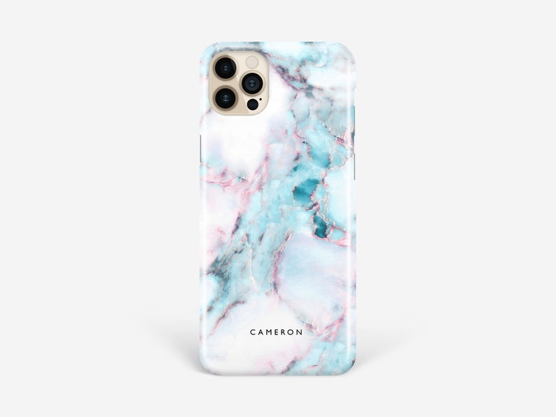 Marble Phone case iPhone 12 Personalised Pro Max XR XS Se 7 8 image 1