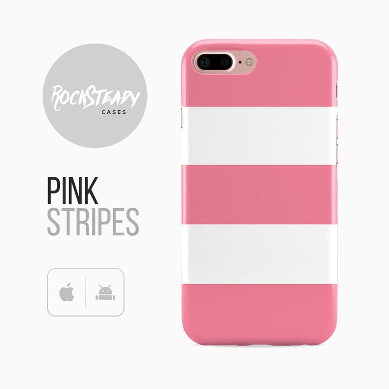 separation shoes 20ff5 e9d9d Pink Stripe iPhone 8 Case, iPhone 7 Plus Case, iPhone X Case, Samsung  Galaxy S8 Plus case,S7 cover,S6 edge,S5 phone case, 5s, SE, 5c case