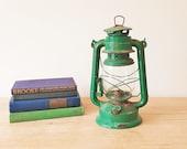 Green Hurricane Oil Lantern, Vintage Rusty Paraffin Lamp, Rustic Kerosene Railway Light, Rustic Hanging Lighting Garden Patio Fireplace