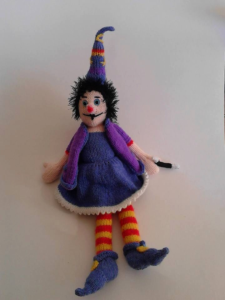 Winnie The Witch Doll Knitting PDF Pattern, Knitted Witch Toy ...