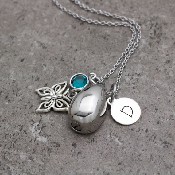 FB Jewels 925 Sterling Silver Tear of Love Ash Holder Necklace