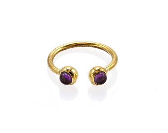"Ring ""Double Brass Ametista"""
