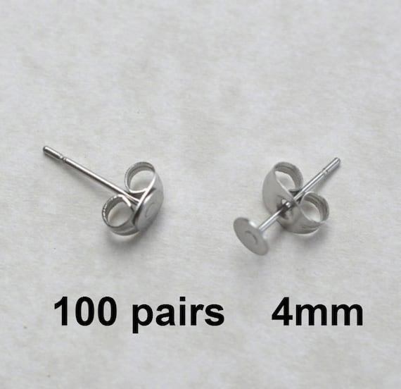 6mm Silver Tone Butterfly Earring Backs Jewellery Findings i171 100 50 Pairs