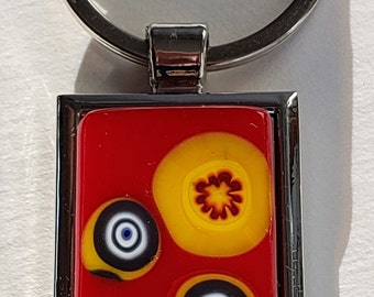 Fused Glass Keychain - The piece that makes you not want to lose your keys!