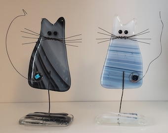 Fused Glass Pussy Cat