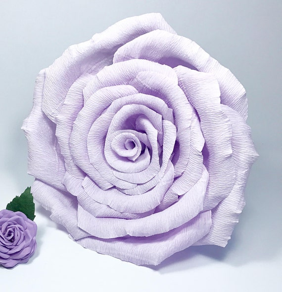 Giant Paper Rose Alternative Bouquet Big Bloom 10 Inches In Etsy