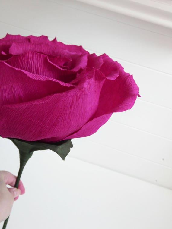 Giant paper rose alternative bouquet big bloom huge paper etsy image 0 mightylinksfo