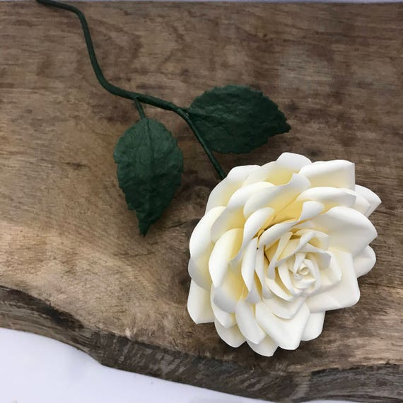Paper rose paper flower ready to post uk paper flowers etsy image 0 mightylinksfo