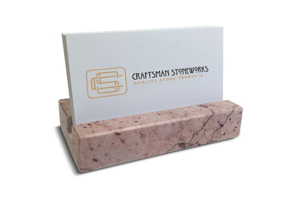 Recycled Pink Marble Business Card Holder Etsy