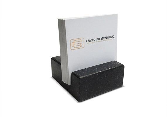 Platz Visitenkarte Halter Schwarz Absolute Granit Büro Schreibtisch Zuhause Schreibtisch Accessoires Recycling Granit
